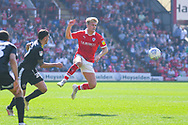 Cameron McGeehan of Barnsley (8) in action during the EFL Sky Bet League 1 match between Barnsley and Shrewsbury Town at Oakwell, Barnsley, England on 19 April 2019.