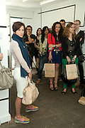 STUDIO 1;1, Design Your Own Timberland breakfast and Autumn/ Winter 2011 preview. Timberland. 1 Fournier St. London. Followed by an art tour by Julia Royce. 8 June 2011. <br /> <br />  , -DO NOT ARCHIVE-© Copyright Photograph by Dafydd Jones. 248 Clapham Rd. London SW9 0PZ. Tel 0207 820 0771. www.dafjones.com.