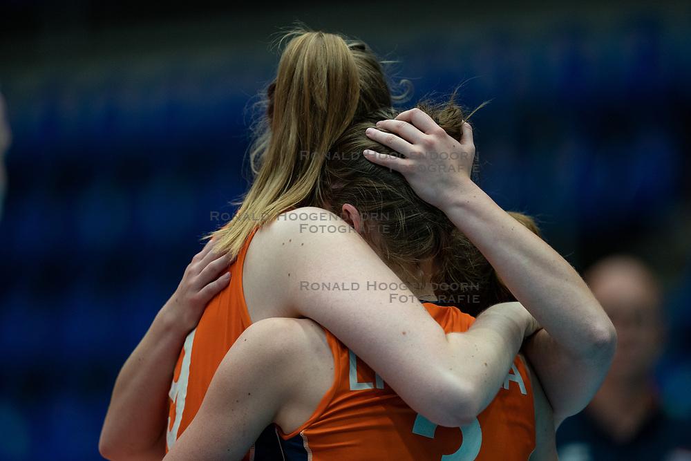 Britte Stuut of Netherlands, Kim Klein Lankhorst of Netherlands after semi final Netherlands - Serbia, FIVB U20 Women's World Championship on July 17, 2021 in Rotterdam