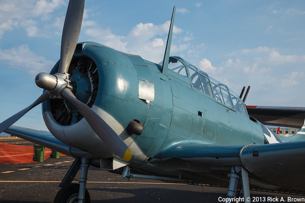 Douglas SBD Dauntless of the Tillamook Air Museum at the Airshow of the Cascades.
