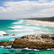 At Point Lookout on Stradbroke Island, Queensland's most easterly point. North Stradbroke Island, just off Queensland's capital city of Brisbane, is the world's second largest sand island and, with its miles of sandy beaches, a popular summer holiday destination.