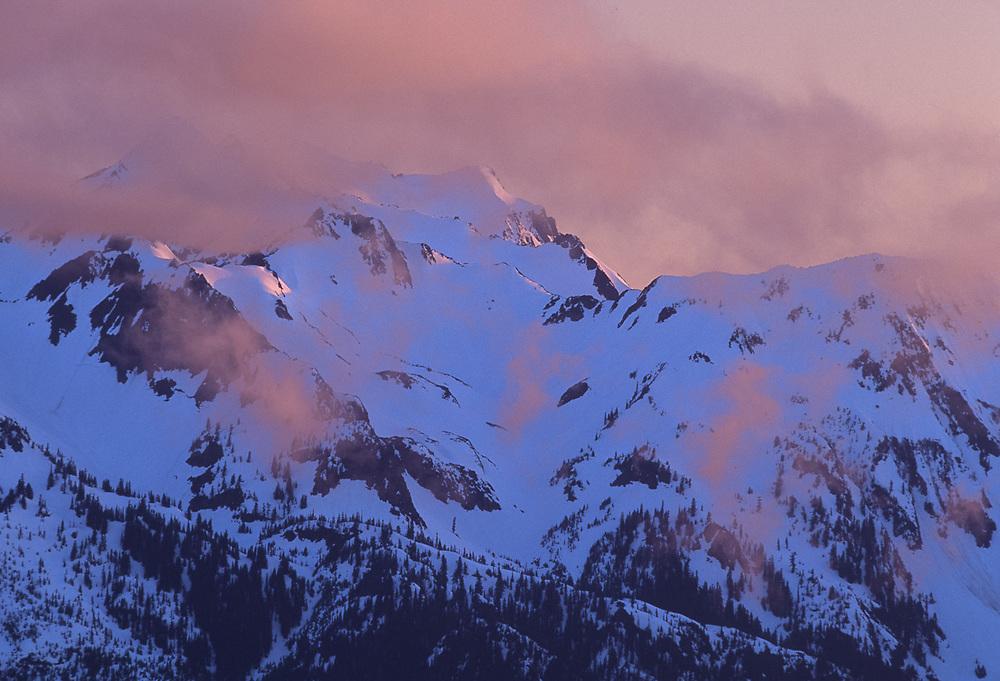 The Bailey Range viewed from Hurricane Ridge, Olympic National Park, Washington, USA