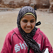 This Bedouin girl was trying to sell me something in the ruins of Petra.