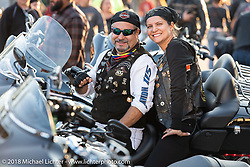 William Bolivar, the general manager of Harley-Davidson Medellín, Columbia who brought more than 30-riders with him to the Harley-Davidson Museum, where the multi-acre campus acted as the central rally point during the Harley-Davidson 115th Anniversary Celebration event. Milwaukee, WI. USA. Thursday August 30, 2018. Photography ©2018 Michael Lichter.