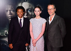 Percelle Ascott, Sorcha Groundsell and Guy Pearce during a screening of of Netflix's The Innocents at the Curzon Mayfair in London.