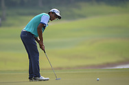 Kartik SHARMA (IND) watches his putt on 5 during Rd 3 of the Asia-Pacific Amateur Championship, Sentosa Golf Club, Singapore. 10/6/2018.<br /> Picture: Golffile | Ken Murray<br /> <br /> <br /> All photo usage must carry mandatory copyright credit (© Golffile | Ken Murray)