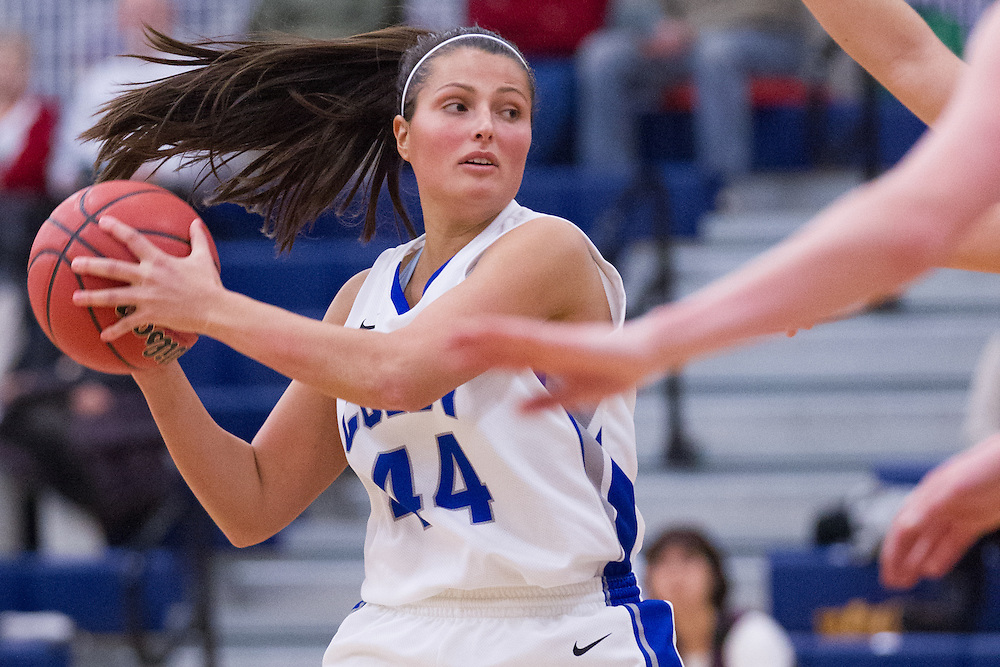 Taylor Peucker, of Colby College, during an NCAA Division III college basketball game against Bates College at The Whitmore-Mitchell at Wadsworth Gymnasium, Wednesday Dec. 4, 2013 in Waterville, ME.  (Dustin Satloff/Colby College Athletics)