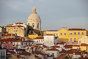 A view of Alfama district and the National Pantheon from Portas do Sol lookout.
