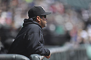 CHICAGO - APRIL 17:  Manager Ozzie Guillen #13 of the Chicago White Sox looks on against the Los Angeles Angels of Anaheim on April 17, 2011 at U.S. Cellular Field in Chicago, Illinois.  The Angels defeated the White Sox 4-2.  (Photo by Ron Vesely)  Subject:  Ozzie Guillen