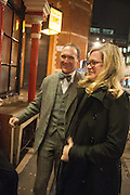 A.A.GILL; CAMILLA LONG, The Omnivore hosts the third Hatchet  Job of the Year Award. Sponsored by the Fish Society.  The Coach and Horses. Greek st. Soho. London. 11 February 2014.