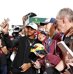 July 13, 2017 - Silverstone, England, United Kingdom - LEWIS HAMILTON greets fans during press day of the FIA Formula One World Championship Grand Prix of Great Britain. (Credit Image: © Hoch Zwei via ZUMA Wire)