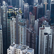 Mid-levels on Hong Kong Island. 7 million people live on 1,104km square, making it Hong Kong the most vertical city in the world.