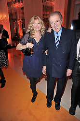 DEBBIE MOORE and SIR DAVID FROST at the 38th Veuve Clicquot Business Woman Award held at Claridge's, Brook Street, London W1 on 28th March 2011.