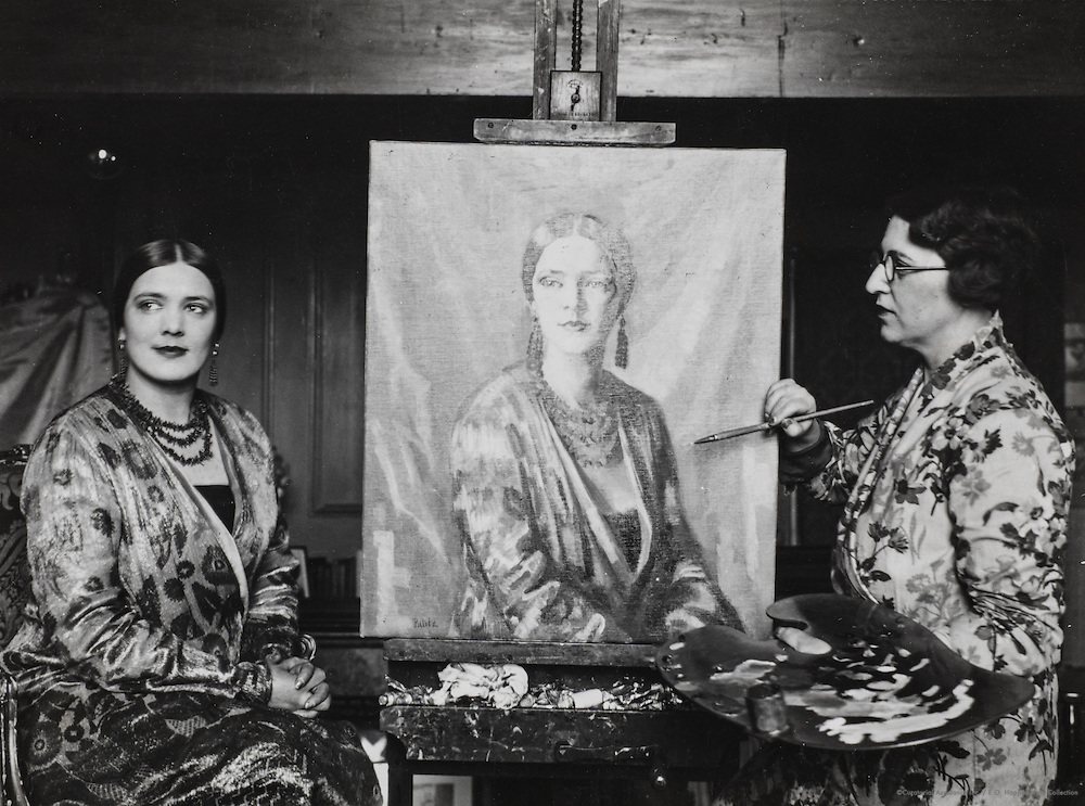 Irene Dineley, painter, painted by Mrs. N.E. Pillitz, USA, 1926