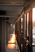 residential high rise apartment building in Yokohama Japan at sunset