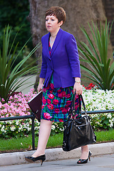 London, July 22nd 2014. Leader of the House of Lords Barroness Stowell attends the cabinet meeting at Downing Street.