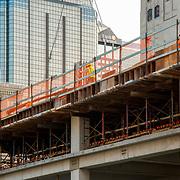 Construction underway on new Waddell and Reed headquarters, downtown Kansas City, Missouri.