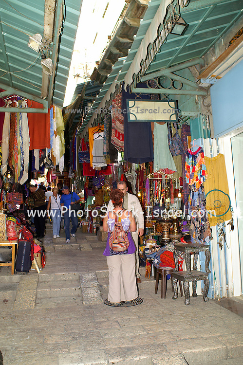 The market in the old city of Jerusalem