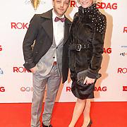NLD/Amsterdam/20160307 - Inloop Premiere Rokjesdag, Tommie Christiaan en partner Michelle Splietelhof