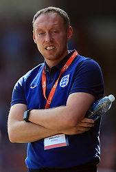 England U17 manager Steven Cooper during the UEFA European U17 Championship, Group A match at Banks's Stadium, Walsall.