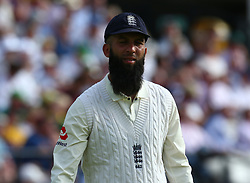 July 7, 2017 - London, United Kingdom - England's Moeen Ali .during 1st Investec Test Match between England and South Africa at Lord's Cricket Ground in London on July 07, 2017  (Credit Image: © Kieran Galvin/NurPhoto via ZUMA Press)