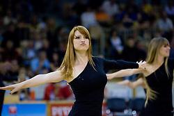 Dragon Ladies dance at third finals basketball match of Slovenian Men UPC League between KK Union Olimpija and KK Helios Domzale, on June 2, 2009, in Arena Tivoli, Ljubljana, Slovenia. Union Olimpija won 69:58 and became Slovenian National Champion for the season 2008/2009. (Photo by Vid Ponikvar / Sportida)