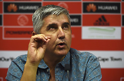 Cape Town--180409 Ajax Cape Town chairman Ari Efstathiou explaining the Tendai Ndoro saga when the team held a media briefing this afternoon  .Photographer;Phando Jikelo/African News Agency/ANA