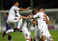 Fotball<br /> Italia<br /> Foto: Inside/Digitalsport<br /> NORWAY ONLY<br /> <br /> 26.09.2007<br /> Fiorentina v Roma 2-2<br /> <br /> Many player's of Roma (White) celebrate Ludovic Giuly after his goal of 1-2 during the match. Fiorentina and Roma 2-2.<br /> Esultanza di Ludovic Giuly dopo il gol con David Pizarro Philippe Mexes, Daniele De Rossi e Max Tonetto