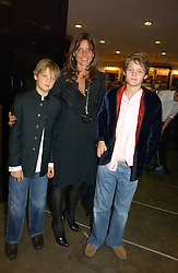 COUNTESS DEBONAIRE VON BISMARCK with her sons, Left, SACHA VON BISMARCH and right, CASPER VON BISMARCK at the opening of The National Cafe and an exclusive private view of the National Gallery's Valazquez Exhibition, at The National Gallery, Trafalgar Square, London on 26th October 2006.<br />