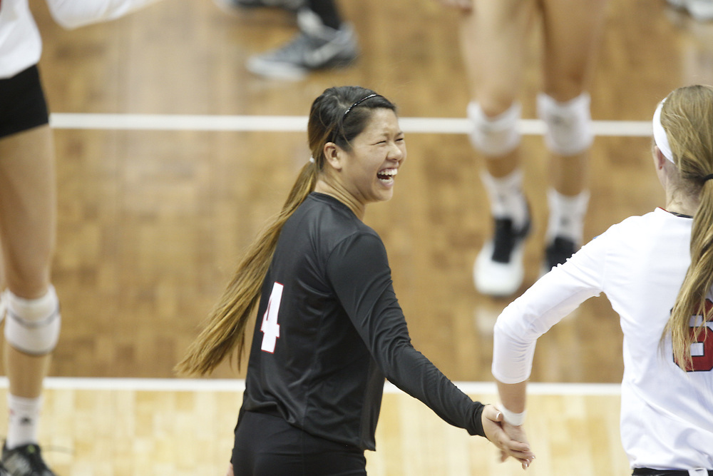 during Nebraska's 3-2 win over Penn State in the NCAA Regional at the Devaney Center in Lincoln, Neb. on Dec. 9, 2016. Photo by Aaron Babcock, Hail Varsity