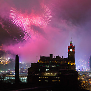 Princes Street (right), Edinburgh on Hogmanay.<br /> <br /> Picture Robert Perry 1st Jan 2020<br /> <br /> Must credit photo to Robert Perry<br /> FEE PAYABLE FOR REPRO USE<br /> FEE PAYABLE FOR ALL INTERNET USE<br /> www.robertperry.co.uk<br /> NB -This image is not to be distributed without the prior consent of the copyright holder.<br /> in using this image you agree to abide by terms and conditions as stated in this caption.<br /> All monies payable to Robert Perry<br /> <br /> (PLEASE DO NOT REMOVE THIS CAPTION)<br /> This image is intended for Editorial use (e.g. news). Any commercial or promotional use requires additional clearance. <br /> Copyright 2018 All rights protected.<br /> first use only<br /> contact details<br /> Robert Perry     <br /> <br /> no internet usage without prior consent.         <br /> Robert Perry reserves the right to pursue unauthorised use of this image . If you violate my intellectual property you may be liable for  damages, loss of income, and profits you derive from the use of this image.