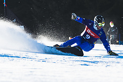 Aaron March (ITA) during parallel slalom FIS Snowboard Alpine World Championships 2021 on March 2nd 2021 on Rogla, Slovenia. Photo by Grega Valancic / Sportida