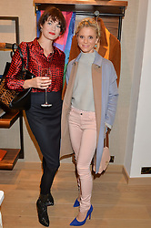 Left to right, JASMINE GUINNESS and EMILIA FOX at a party to celebrate the re-opening of the Jaeger Chelsea Store in association with the NSPCC at 145 Kings Road, London on 24th September 2014.