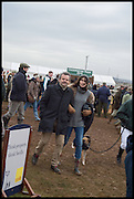 MARK HIX; ANNABEL BROOKS, The Heythrop Hunt Point to Point. Cockle barrow. 25 January 2015