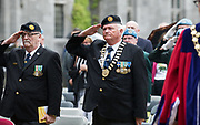 08/07/2018  repro  free: Ex-servicemen  Pat Nugent and Jim Larkin, ONE  at  The National Day of Commemoration Ceremony at NUI Galway in honour of all those Irishmen and Irish Women who served in past wars or on Service with the UN.Photo:Andrew Downes, XPOSURE