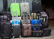 Luggage bags on display outside shop,  Rotterdam, South Holland, Netherlands
