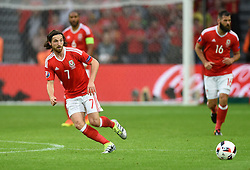 Joe Allen of Wales  - Mandatory by-line: Joe Meredith/JMP - 01/07/2016 - FOOTBALL - Stade Pierre Mauroy - Lille, France - Wales v Belgium - UEFA European Championship quarter final