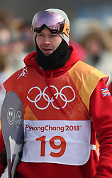 Great Britain's Billy Morgan after run 1 of qualification for Men's Snowboard Slopestyle the PyeongChang 2018 Winter Olympic Games in South Korea.