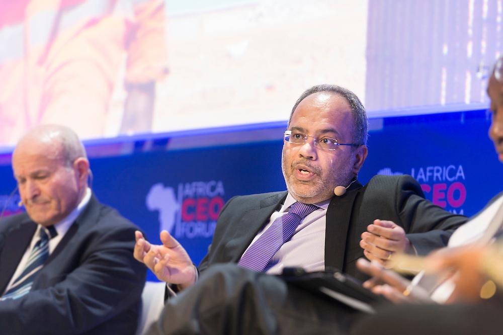 """Carlos Lopez, Secrétaire Executif de la Commission Economique pour l'Afrique aux Nations Unies, lors du Panel Croissance: """"2015-2020: quelles trajectoires de croissance pour les économies africaines?"""", le 16 mars 2015, Africa Ceo Forum 2015"""