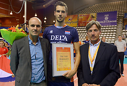 20150613 NED: World League Nederland - Finland, Almere<br /> Michel Everaert, Bas van Bemmelen
