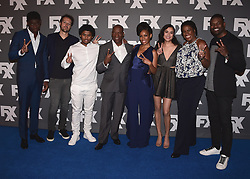 """BEVERLY HILLS, CA - AUGUST 9:   Cast of FX's """"Snowfall"""" (Damson, Idris, Dave Andron, Isaiah John, John Singleton, Angela Lewis, Emily Rios and Michael Hyatt ) and Amin Joseph at the FX 2017 Television Critics Association Summer Tour Star Walk at The Beverly Hilton Hotel on Tuesday, August 9, 2017 in Beverly Hills, CA. (Photo by Scott Kirkland/Fox/PictureGroup) *** Please Use Credit from Credit Field ***"""