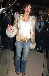 MARGO STILLEY at a party to celebrate the opeing of the new Paul & Joe Boutique at 134 Sloane Street, London SW1 on 14th April 2005.<br />