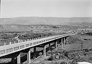 9305-A4603-2 Columbia River bridge at The Dalles, Oregon, about 1952