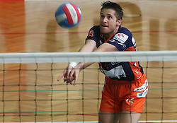 Sebastijan Skorc of ACH Volley at 4th and final match of Slovenian Voleyball  Championship  between OK Salonit Anhovo (Kanal) and ACH Volley (from Bled), on April 23, 2008, in Kanal, Slovenia. The match was won by ACH Volley (3:1) and it became Slovenian Championship Winner. (Photo by Vid Ponikvar / Sportal Images)/ Sportida)