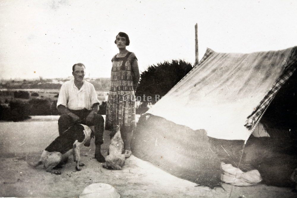 western camping Morocco 1930s