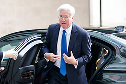 © Licensed to London News Pictures. 11/06/2017. London, UK. Defence Secretary MICHAEL FALLON arrives at BBC Broadcasting House in London to appear on The Andrew Marr show on Sunday 11 June 2017. Photo credit: Tolga Akmen/LNP
