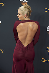 September 18, 2016 - Los Angeles, California, U.S. - LINDSEY VONN arrives for the 68th Annual Primetime Emmy Awards, held at the Nokia Theatre. (Credit Image: © Kevin Sullivan via ZUMA Wire)
