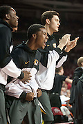 Feb 16, 2013; Fayetteville, AR, USA; Missouri Tigers players react to a play during a game against the Arkansas Razorbacks at Bud Walton Arena. Arkansas defeated Missouri 73-71. Mandatory Credit: Beth Hall-USA TODAY Sports