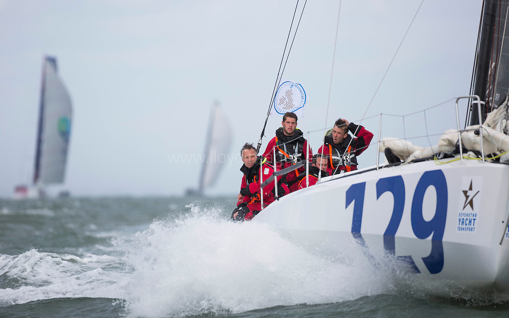 The Seven Star Round Britain and Ireland, race start. Cowes. Isle of Wight. <br /> Please Credit: Lloyd Images