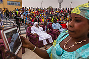 Rhissa Feltou, mayor of Agadez, participates in the 4th annual Youth Festival day in the city celebrating education, cultural diversity and excellence in the classroom across all ethnicities in Agadez, Niger.